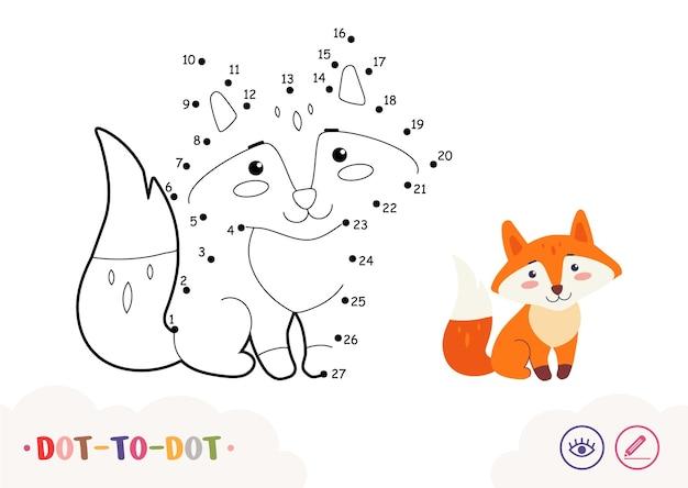 Punt tot punt verbind de cijfers en kleur quiz leren kinderen spel met eenvoudige contour illustratio