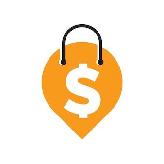 Punt winkel logo ontwerp