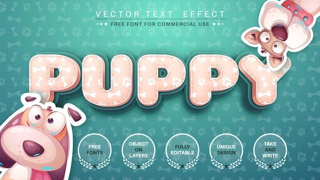 Puppy bewerk teksteffect bewerkbare lettertypestijl