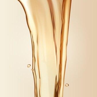 Pure olie-elementen, huidverzorging van haarverzorgingselementen, gietvloeistof pour