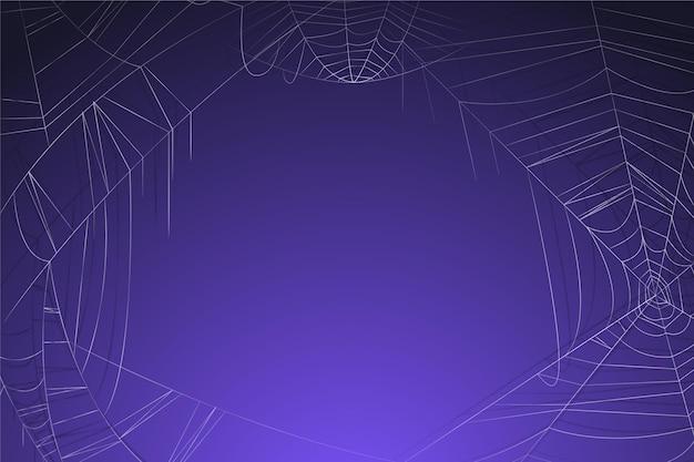 Purpere halloween-achtergrond met lege ruimte
