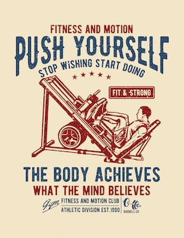 Push yourself-poster