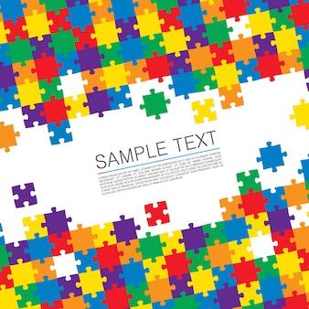 Puzzel cover art kleur achtergrond. vector illustratie