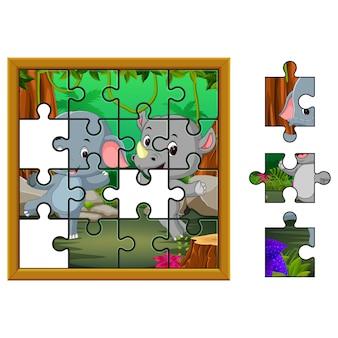 Puzzel educatie spel
