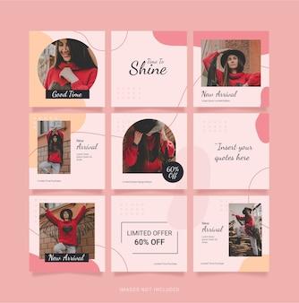 Puzzel mode vrouwen instagram-sjabloonfeed