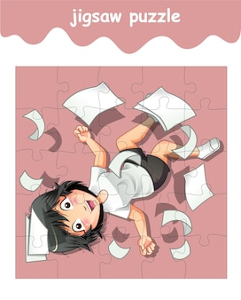 Puzzelspel van tekenfilm voor meisjes
