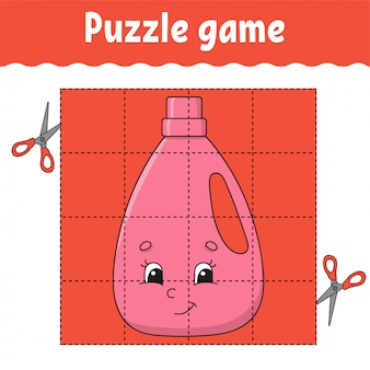 Puzzelspel voor kinderen. onderwijs ontwikkelt werkblad. leerspel voor kinderen.