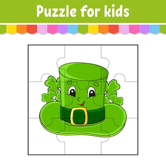 Puzzelspel voor kinderen. puzzelstukjes.
