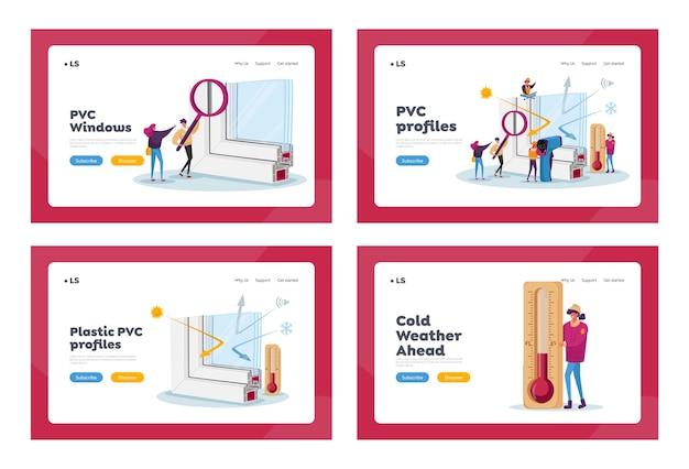 Pvc-vensterprofiel installatie bestemmingspagina sjabloon