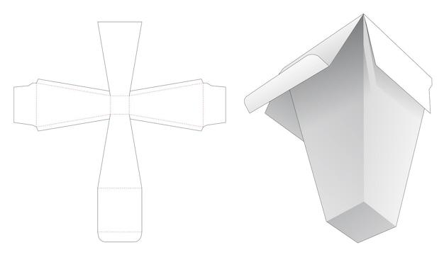 Pylon vierkante doos gestanst sjabloon