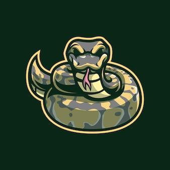 Python mascotte logo ontwerp
