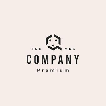 Q brief mensen team familie hipster vintage logo vector pictogram illustratie