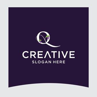 Q druif logo ontwerp