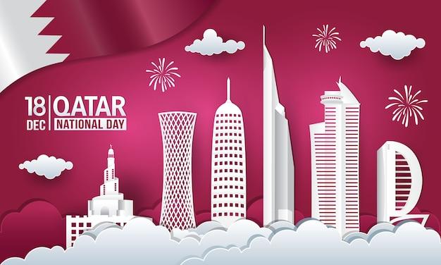 Qatar nationale dag illustratie
