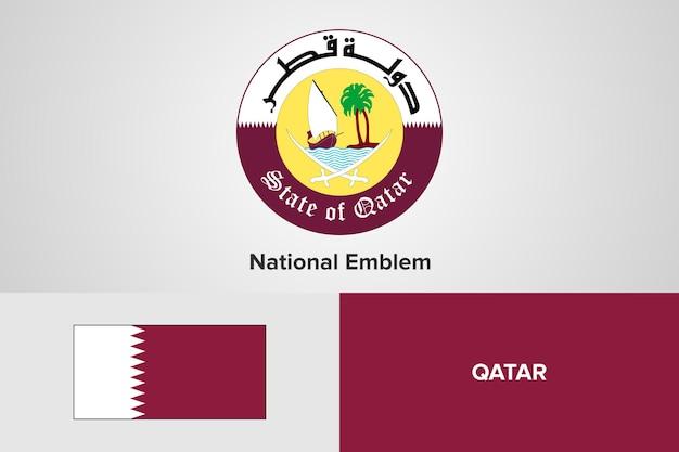 Qatar nationale embleem vlag sjabloon