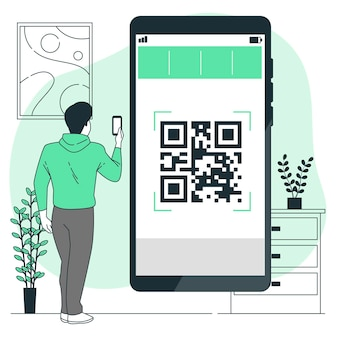 Qr code concept illustratie