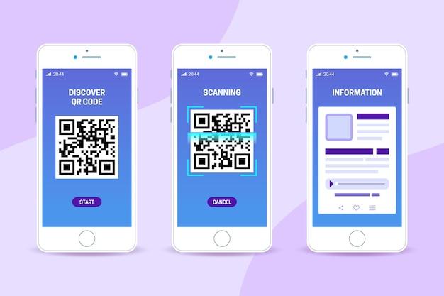Qr-code scanstappen op smartphone