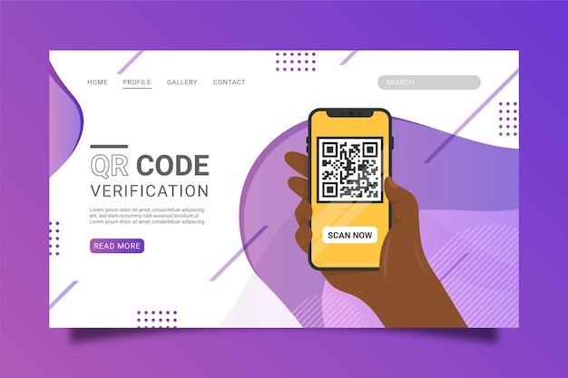 Qr code verificatie bestemmingspagina