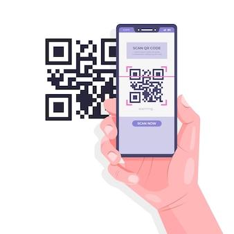 Qr code verificatie concept