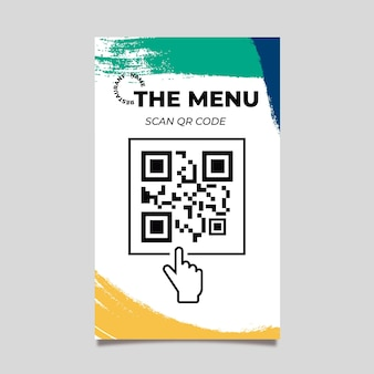 Qr-codesjabloon van kleurrijk menu
