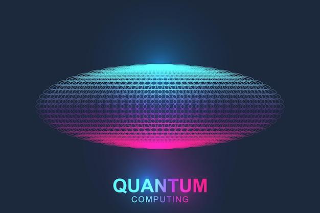 Quantum computer technologie concept.