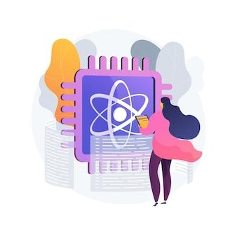Quantum computing abstract concept illustratie