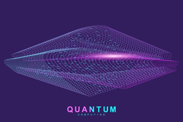 Quantum computing-technologie concept