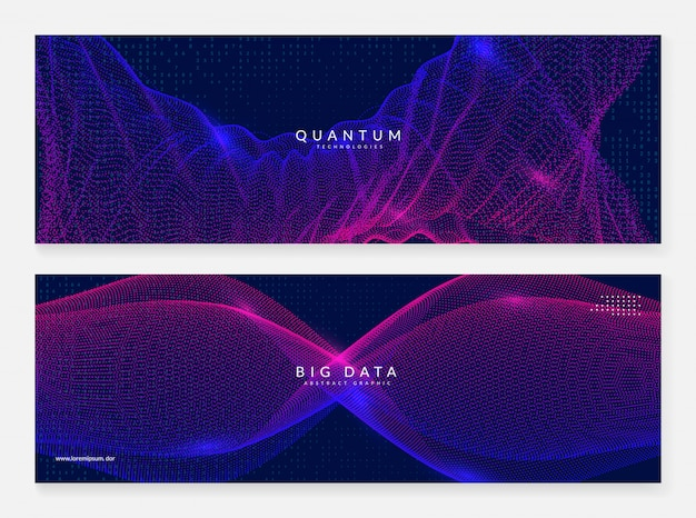 Quantum innovatie computer achtergrond