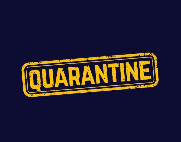 Quarantaine stempel, grunge vector teken