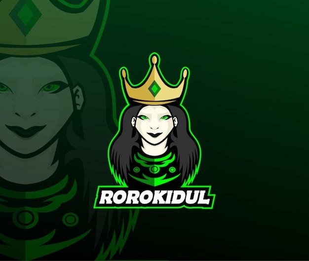 Queen mascot-logo-ontwerp