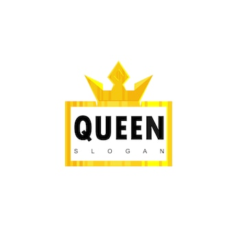 Queen typography emblem
