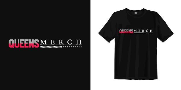 Queensstad van new york city, het ontwerp van de de vst-shirt