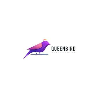 Quenbird kleurrijk logo sjabloon
