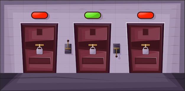 Quest kamer met deuren.