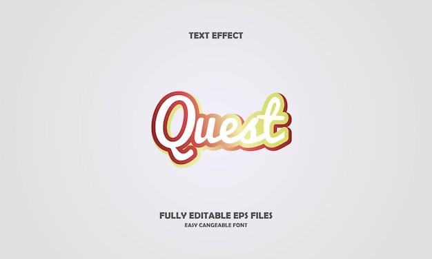 Quest teksteffect