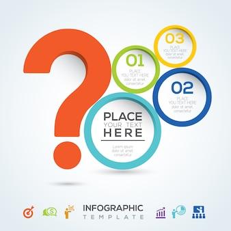 Question mark infographic presentatie