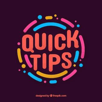 Quick tip-concept met een plat ontwerp