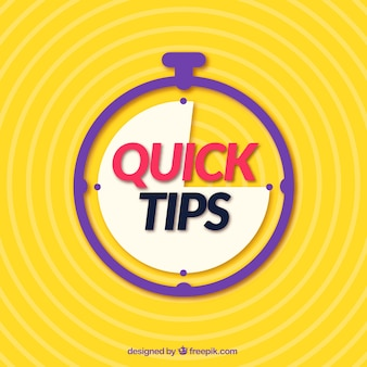 Quick tips-concept met een plat ontwerp