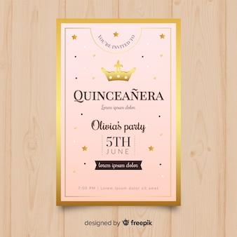 Quinceañera feestuitnodiging
