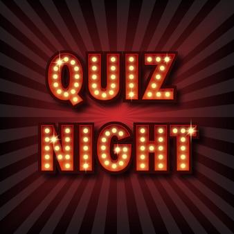 Quiz avond aankondiging poster. Premium Vector