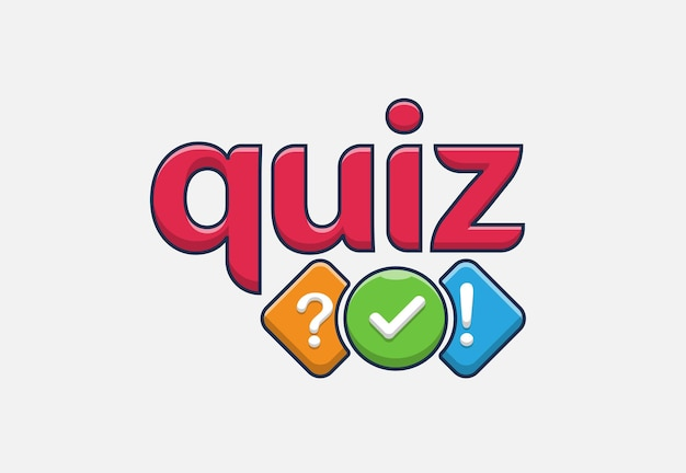 Quiz cartoon logo