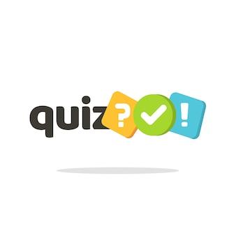 Quiz logo pictogram symbool