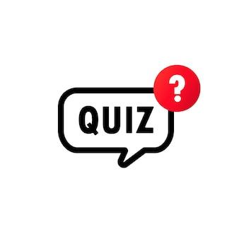 Quiz met het pictogram van het vraagtekenteken. vragen en antwoorden spel symbool. vector op geïsoleerde witte achtergrond. eps-10.