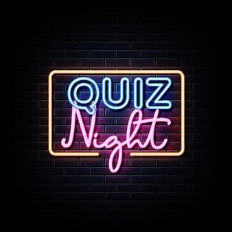 Quiz nacht aankondiging poster ontwerpsjabloon