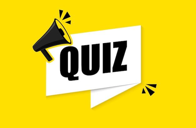 Quiz tekst spraak symbolen concept
