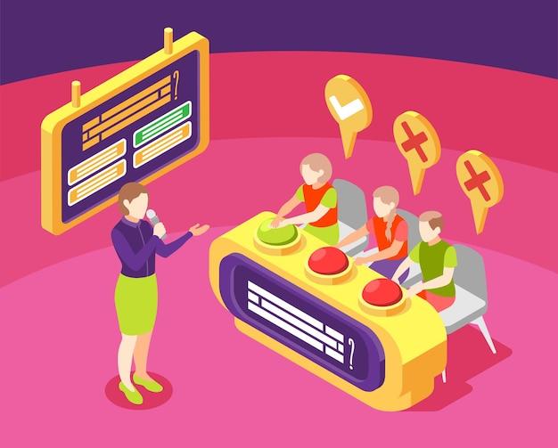 Quiz tv-showcompositie met prijsvraag