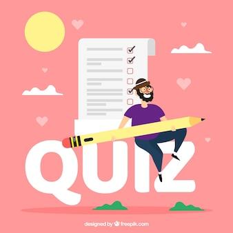 Quiz woord concept