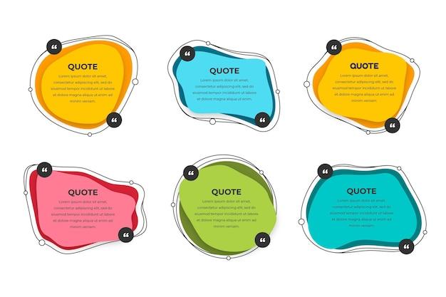 Quote box frame-collectie