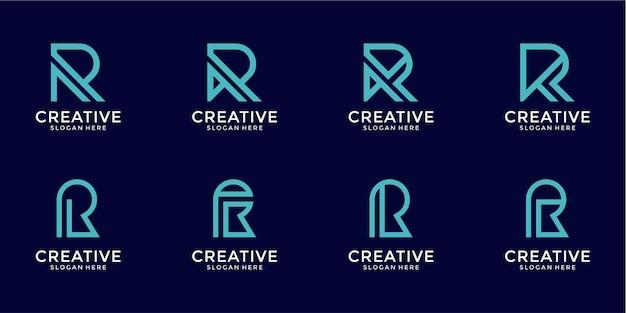 R brief logo collectie monogram stijl