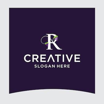 R druif logo ontwerp